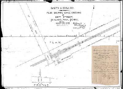 Buy Image] Balto  & Phila  R R  Plan showing grade crossing