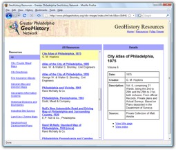 Geohistory Resources Greater Philadelphia Geohistory Network