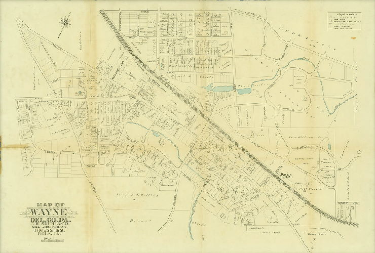 Geohistory resources greater philadelphia geohistory network map of wayne delaware county pa 1892 circa sciox Choice Image