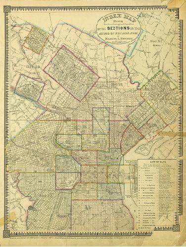 1888 PHILADELPHIA ART MUSEUM 1876 CENTENNIAL EXHIBITION FAIRMOUNT PARK ATLAS MAP